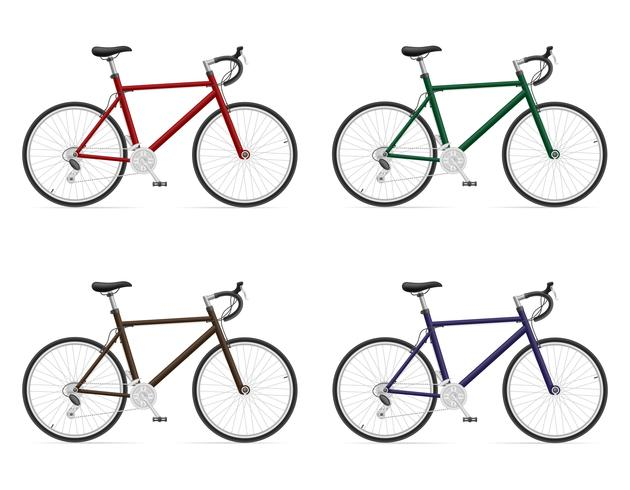 Rennräder mit Gangschaltung Vektor-Illustration vektor