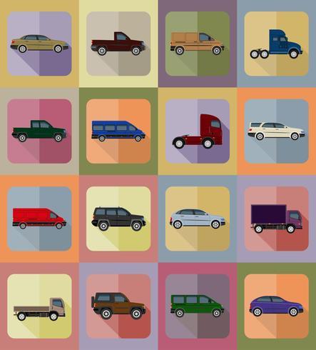 Transport flache Ikonen-Vektor-Illustration vektor