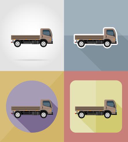 LKW für flache Ikonen der Transportfracht vector Illustration