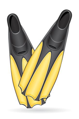 Flossen zum Tauchen von Vektor-Illustration vektor