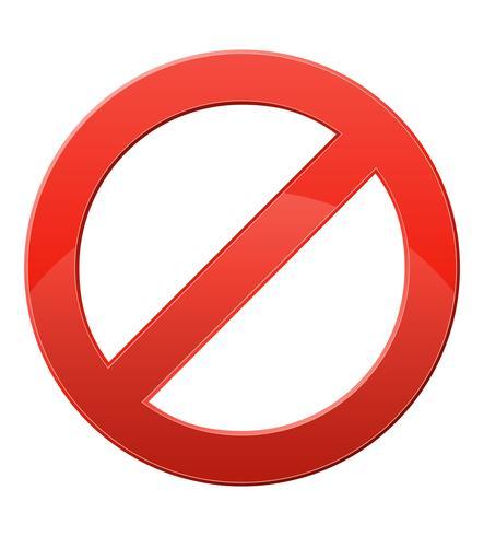 förbjudande tecken vektor illustration