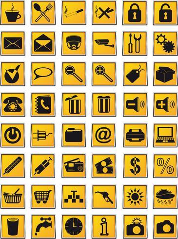 Symbole für Design-Vektor-Illustration festgelegt vektor