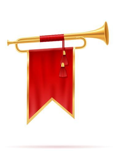 kung kunglig guld horn vektor illustration