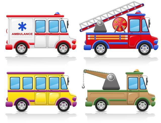 Bil ikonuppsättning vektor illustration