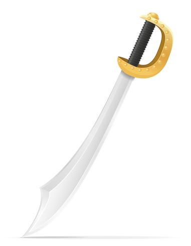 Kampfschwert mittelalterliche Lager Vektor-Illustration vektor
