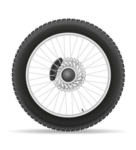 motorcykelhjuldäck från skivvektorillustrationen vektor