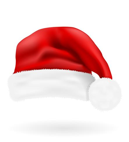 Weihnachtsroter Hut Weihnachtsmann-Vektorillustration vektor