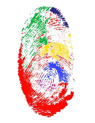 fingeravtryck av olika färger vektor illustration