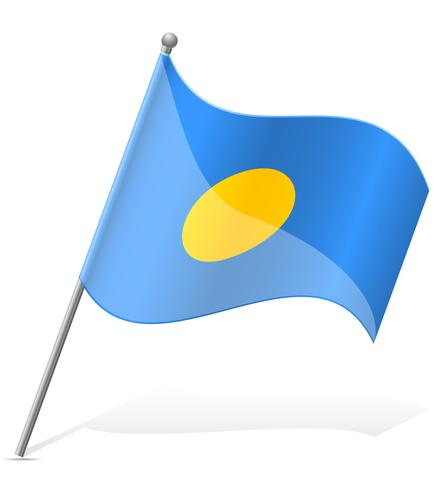 flagga av palauisk vektor illustration