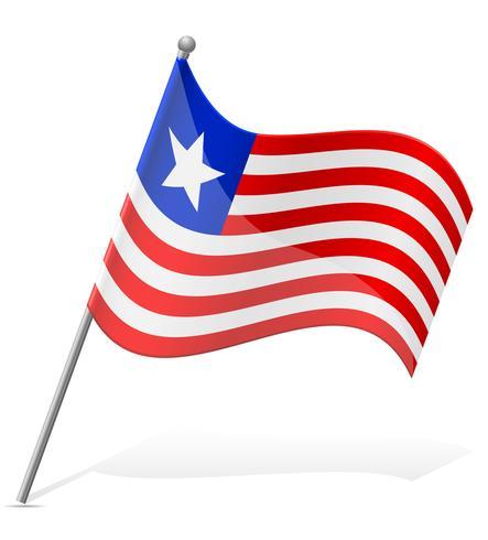 flagga av Liberia vektor illustration