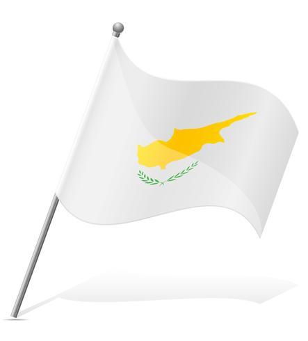 flagga av cyprus vektor illustration