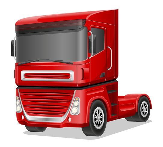 Stor röd lastbil vektor illustration