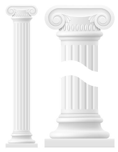 Antike Spaltenvorrat-Vektorillustration vektor