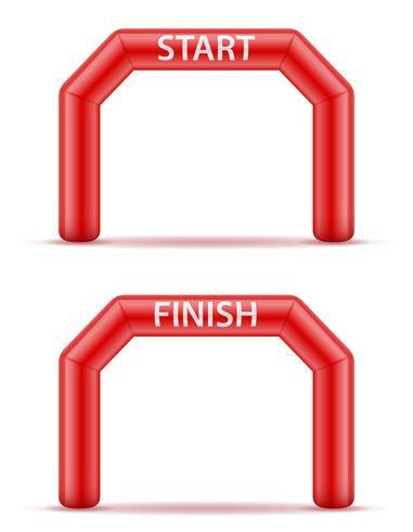 uppblåsbara linje start finish för sport vektor illustration