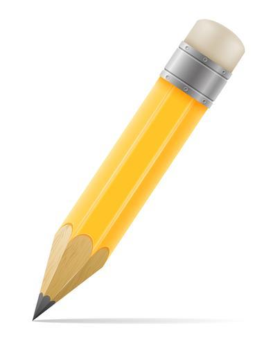 Bleistift mit Radiergummi zum Zeichnen von Vektor-Illustration vektor