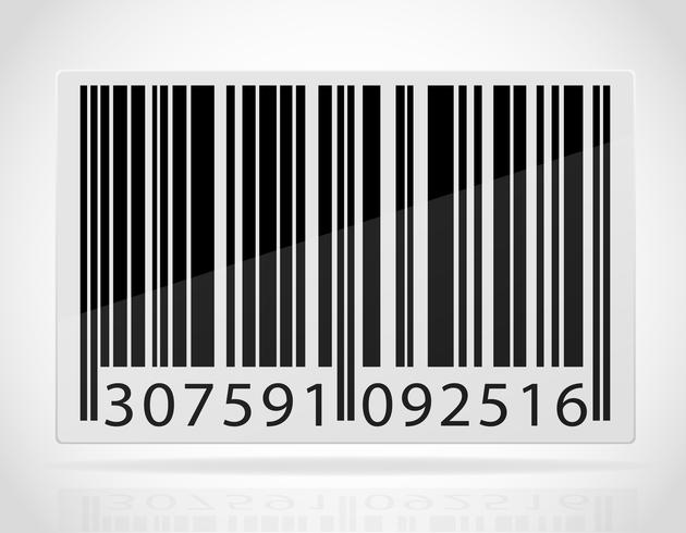 Barcode-Vektor-Illustration vektor