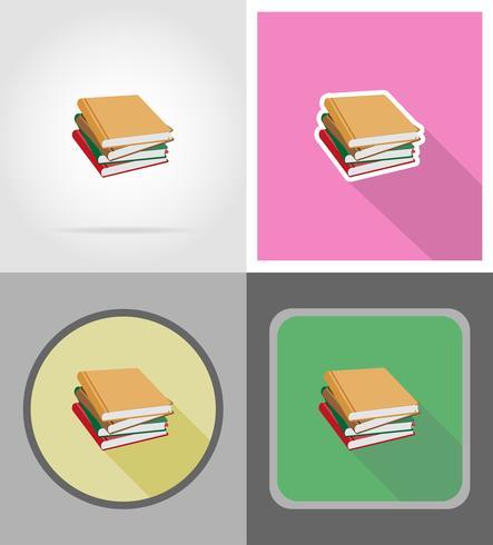 Buch flache Symbole Vektor-Illustration vektor