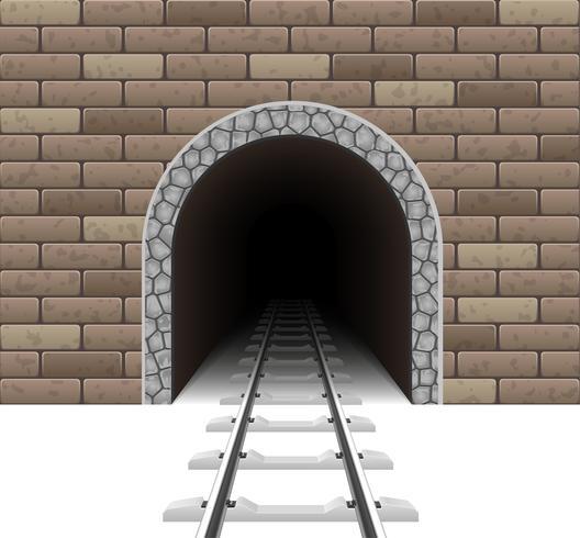 järnväg tunnel tunnel vektor illustration