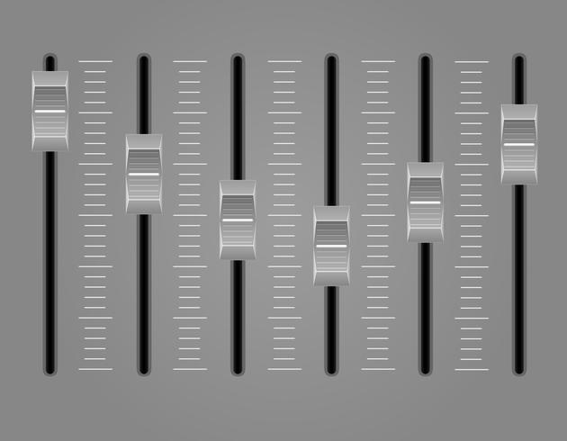 panel konsol ljud mixer vektor illustration