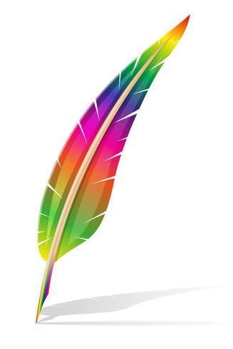 konst kreativ fjäder penna koncept vektor illustration