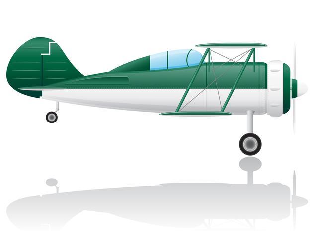 gammal retro flygplan vektor illustration