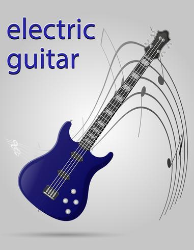 elektrisk gitarr musikinstrument stock vektor illustration
