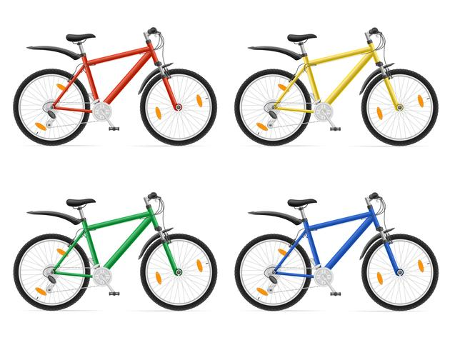 Mountainbikes mit Gangschaltung Vektor-Illustration vektor