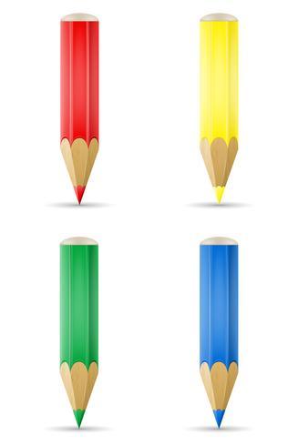 färgade pennor för att dra vektor illustration