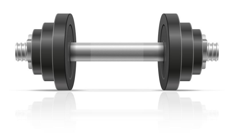 Metallhantel für Muskelaufbau in der Turnhallenvektorillustration vektor