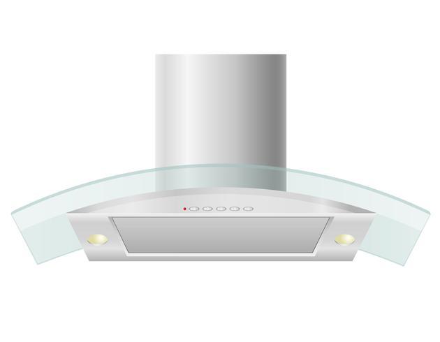 Dunstabzugshaube für Küchenvektorillustration vektor