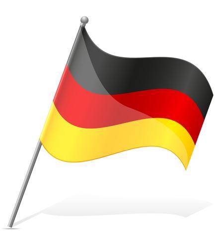 Flagge Deutschlands Vektor-Illustration vektor