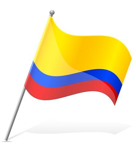 Flagga av Colombia vektor illustration