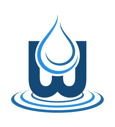 logo mineralvatten vektor illustration