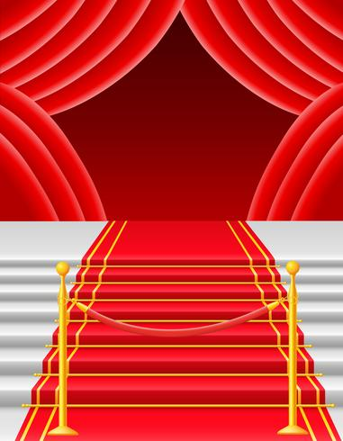 röd matta med svängstil vektor illustration