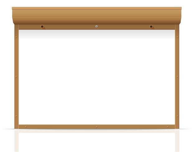 brun rullande jalusier vektor illustration