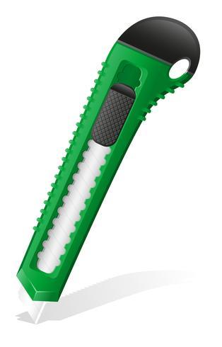 Briefpapier grüne Messer-Vektor-Illustration vektor