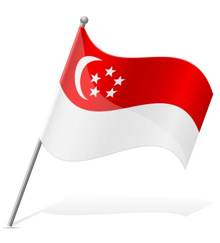 Flagge der Singapur-Vektor-Illustration vektor
