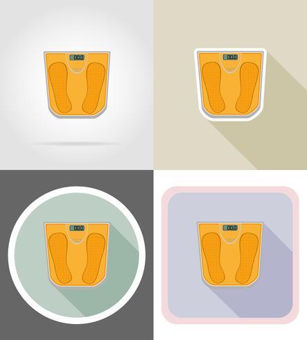 golvskala platt ikoner vektor illustration
