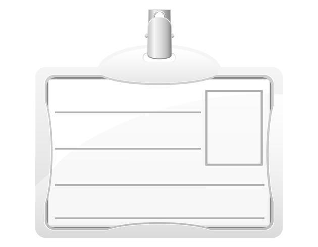 identitetskort vektor illustration