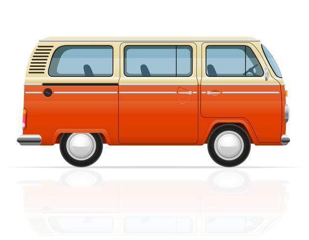 retro minivan vektor illustration