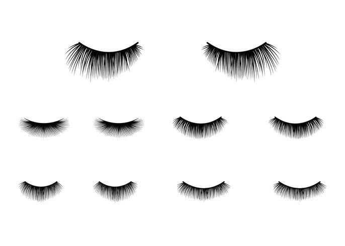 Ögonfransar Clipart Vector