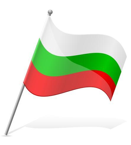 flagga av bulgarien vektor illustration