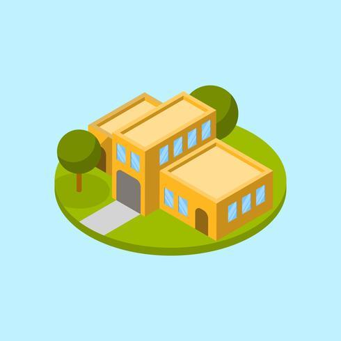 Flache moderne Haus-Vektor-Illustration vektor