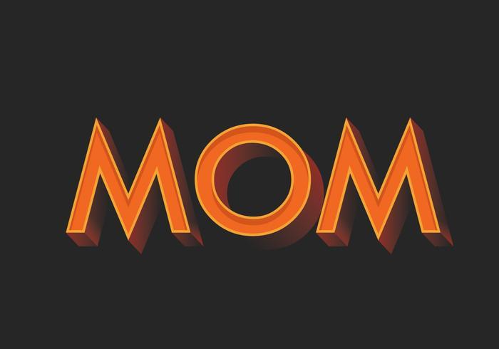 Mom Typografie vektor