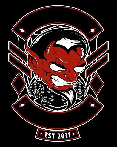 Lucifer, böse, satanische Dämonenvektor-Handzeichnung vektor