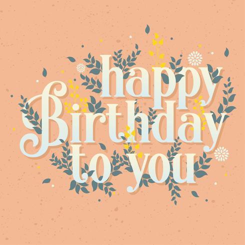 Grattis på födelsedagen Vector Design