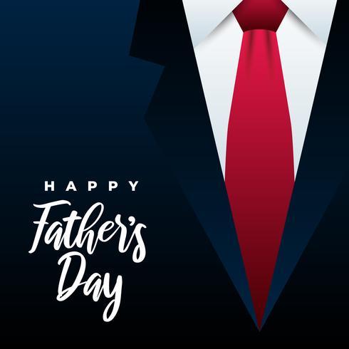 Glückliche Vatertags-Krawatten-Illustration vektor