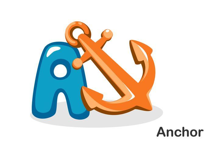 A für Anker vektor