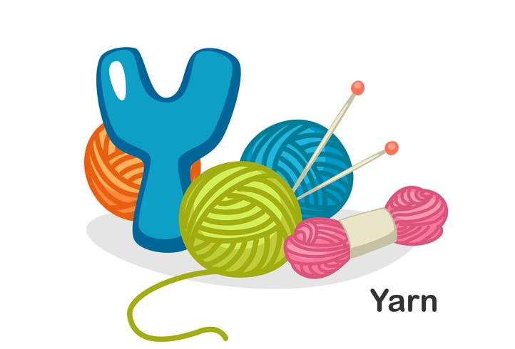 Y für Garn vektor