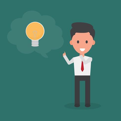 Unternehmer denken Idee. vektor
